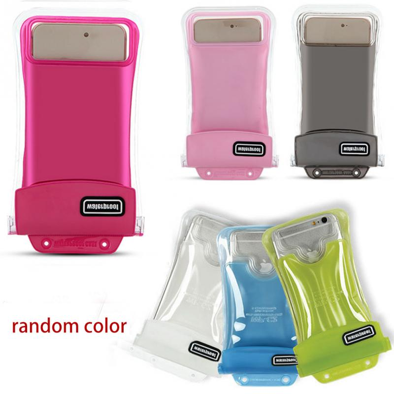 Universal Double-protection Waterproof Bag Floating Case Diving Swimming Phone Bag For iPhone For Huawei 6