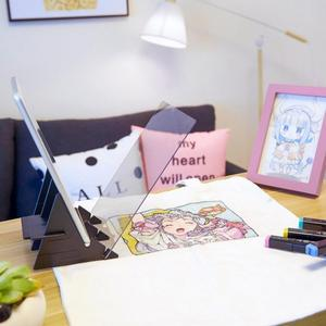 Image 4 - Conjunto de arte de painel infantil, espelho de rastreamento e desenho para crianças, brinquedo para cópia de artesanato, painel para esticar, pintura e animação ferramenta de arte suprimentos