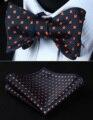 BF607VS Темно-Синий Оранжевый Цветочный Боути Мужчины Шелка Самостоятельная Галстук-Бабочку платок набор Карманный Square Classic
