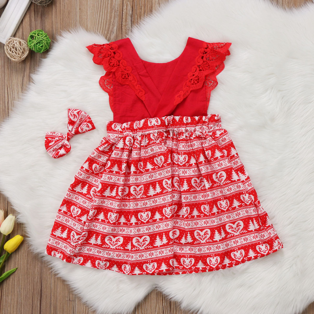2590d7bcca5 Christmas Dress Girl Baby Toodler Kids Romper Dresses Girls Clothes Xmas  Lace Party Princess Dresses Gift-in Dresses from Mother   Kids on  Aliexpress.com ...
