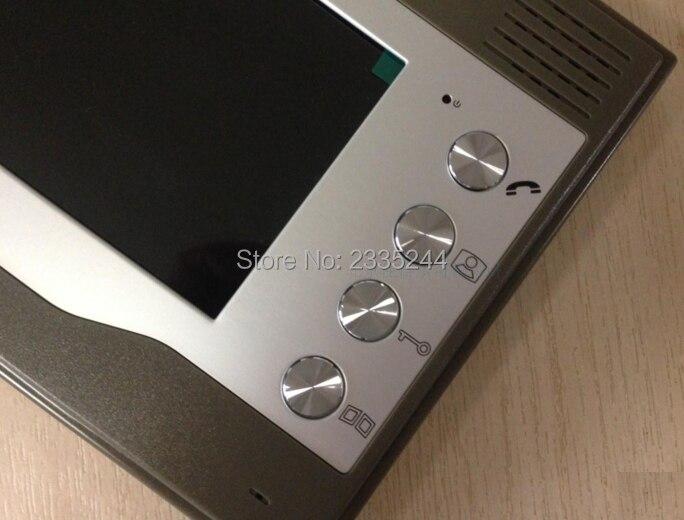 ZHUDELE 7 Video Door Phone ID Cards/Code Unlock Doorbell System IR Camera Video Intercom System Night Vision Rainproof 2v1