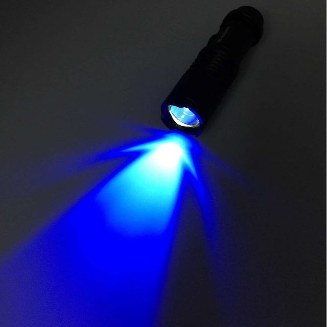 Zoomable Led UV Flashlight Torch Light 365nm Ultra Violet Light Blacklight UV Lamp AA Battery For Marker Checker Cash Detection