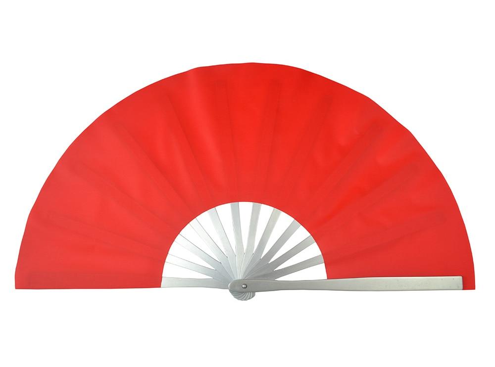 2 the whole Aluminum Alloy Cheng Wu Tai Chi Fan martial arts acrobatics fan red add a double fan fan.