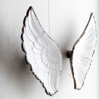 2pcs Lot Creative Mental Knobs And Handles White Wing Shape Drawer Pulls Kitchen Wardrobe Cabinet Door