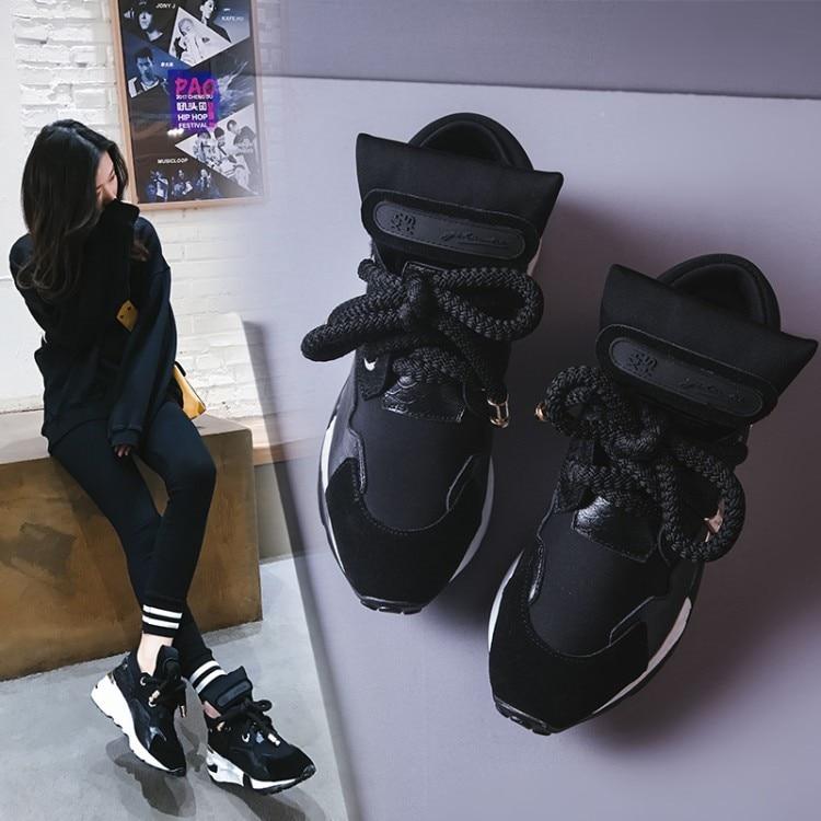 Style Nouveau Que Couleur Hauts De À Chart Pentes Loisirs Lacent Ainsi Talons Femmes Occasionnels See Des Printemps Chaussures noir Bovins Patchwork Mélange B5SqpXwqn
