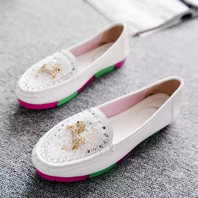New Women Leather Shoes Moccasins Mother Loafers Soft Leisure Flats Female Driving Casual Footwear loafers Size