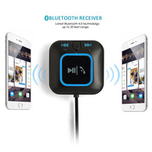 Bluetooth 4.0 Receiver Car Kits Portable Wireless Audio Adapter with 3.5mm Aux Jack (NFC-Enabled) for All Smartphones