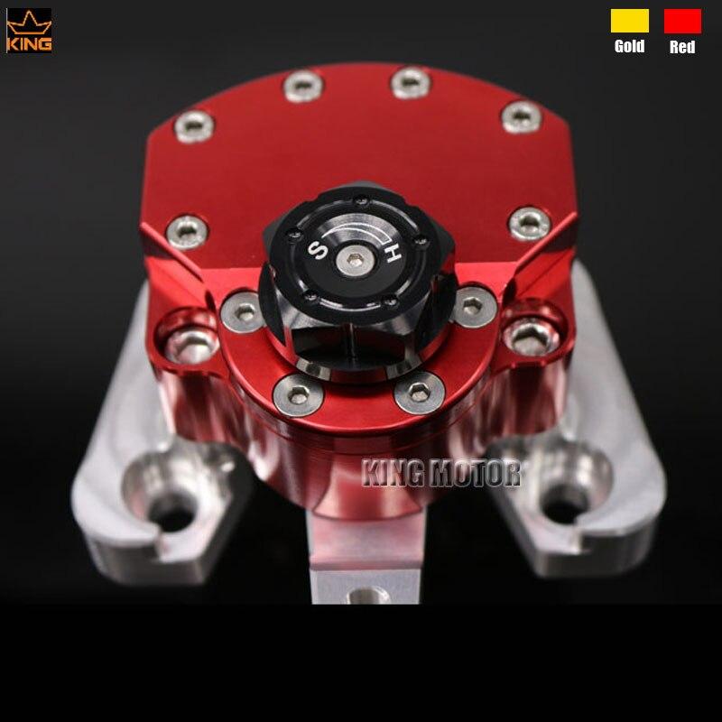 Para DUCATI MONSTER 796 2010-2015 Accesorios de La Motocicleta Amortiguador de Dirección CNC De Aluminio Rojo