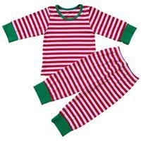 Baby Boys Girls Christmas Pajamas Kids Long Sleeve Xmas PJS Cotton Pajamas Children Striped Night Wear