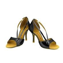 YOVE Dance Shoes PU Women's Latin/ Salsa Dance Shoes 3.5″ Slim High Heel More Color w124-27