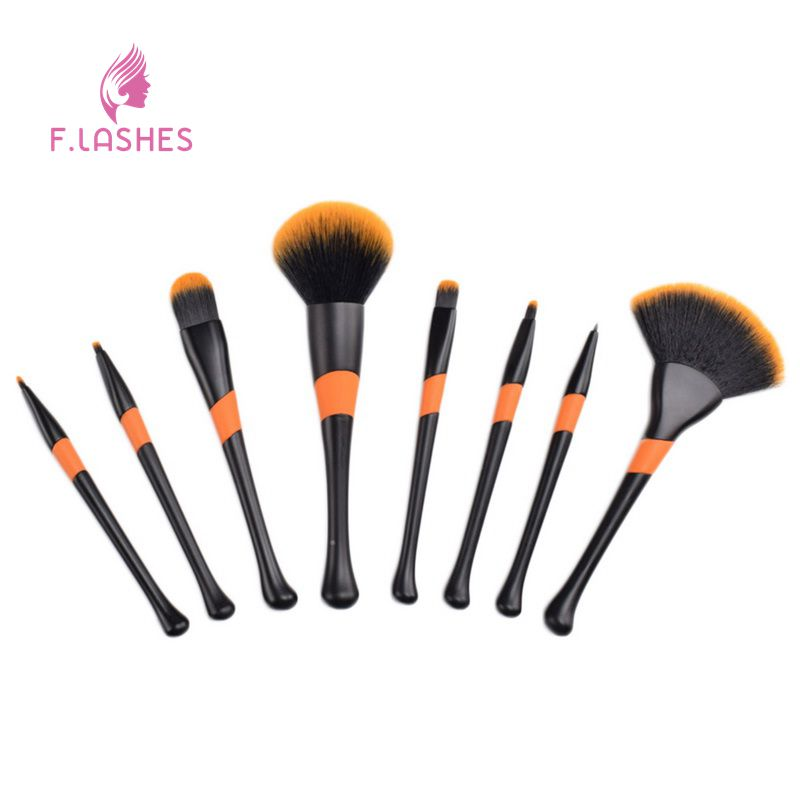 F.Lashes 8PCs/Set Professional Makeup Brushes Mask Brush Facial Eye Makeup Face DIY Mask Brushes Cosmetic Makeup Beauty Tools deep face cleansing brush facial cleanser 2 speeds electric face wash machine