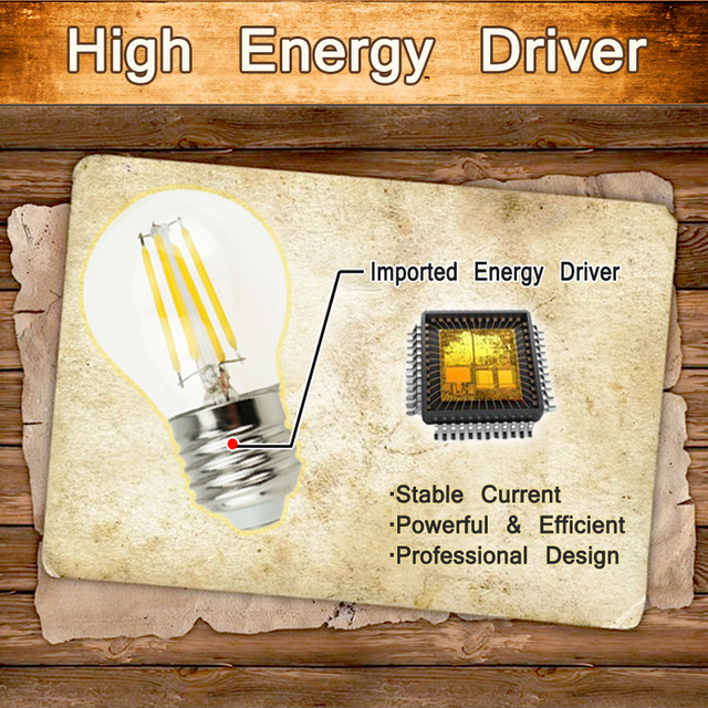 LightInBox E14 4W 8W 12W Antique Retro Vintage Led Bulb 220V  E27 Dimmable Edison Glass Lamp G45 Led Filament Bulb