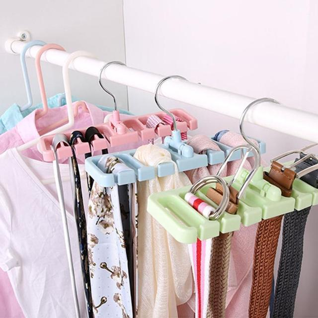 8 Hole Storage Rack Tie Belt Organizer Rotating Ties Hanger Holder Closet Organization Wardrobe Finishing E Saver