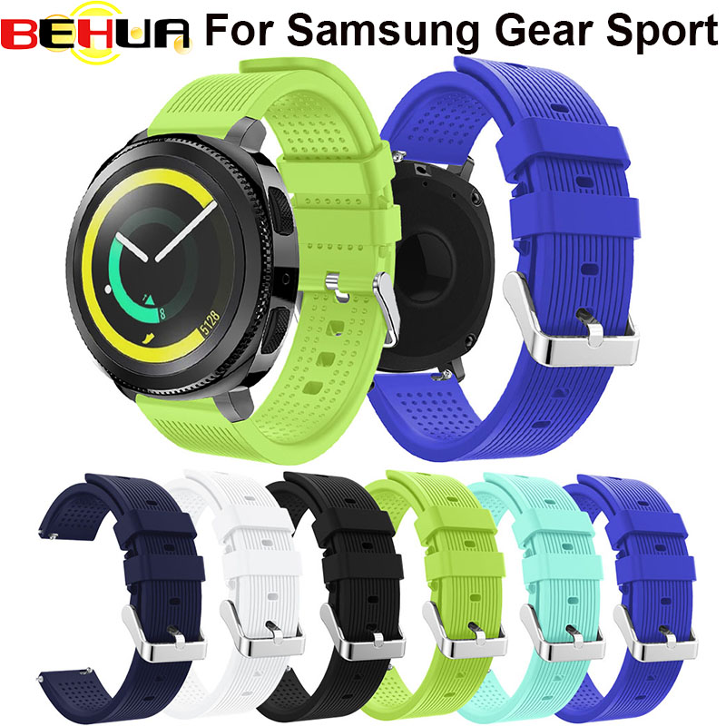 20mm Sport Silicone Watch Straps band Gear Sports Strap Band Bracelet For Samsung Gear S2/Samsung Gear Sport 6 Color watchband