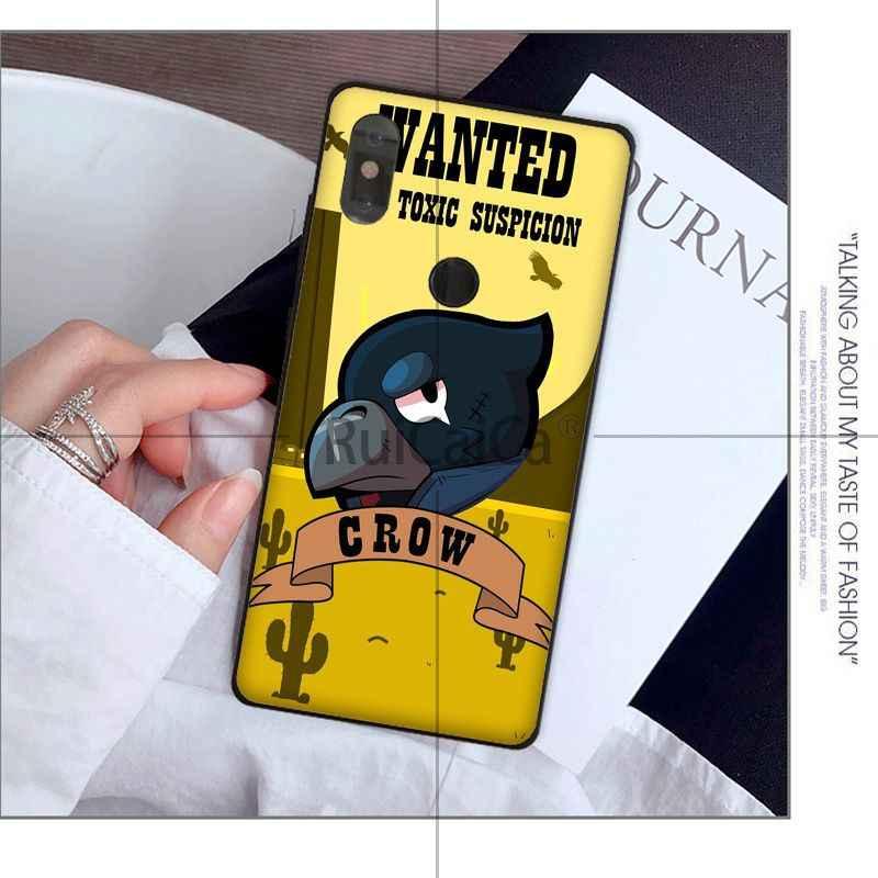 Мягкий силиконовый черный чехол для телефона Ruicaica Brawl Stars для Red mi 5 plus Note 5 Note 4 4X Xuiao mi Note 3 8 8 SE 6