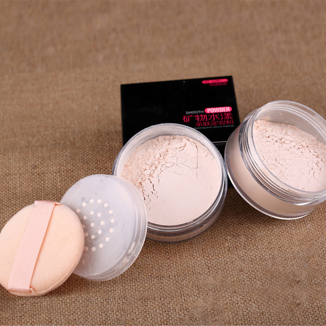 4 Colors Loose Powder Face Whitening Skin Finish Transparent Mineral Makeup Cosmetic Foundation Setting Powder 3