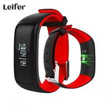 P1 умный Браслет Bluetooth Монитор Сердечного Ритма Смарт-браслет артериального давления Водонепроницаемый плавать Mi нг SmartBand PK ID107 mi Группа