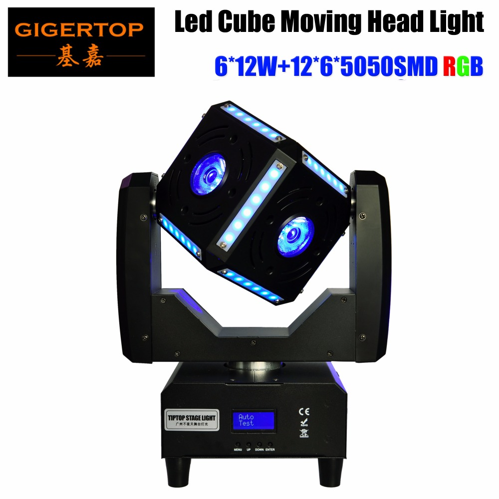 Freeshipping 90W Led Moving Head Cube Light Beam Scanner Effect Power In/out Socket Endless Rotation Tilt Osram RGBW 110V-220V freeshipping 2xlot 16 head led moving head spider light endless rotation 16x25 high power rgbw 4in1 beam full color lcd display