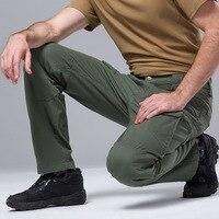 Мужские тактические уличные Мультикам брюки армейские тренировочные военные брюки полный хлопок спортивные брюки для походов Охота Рыбал...