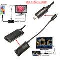 Preto micro usb 11pin mhl para hdmi hdtv cabo adaptador para samsung galaxy a/e/j/s/nota para iphone sony htc lg