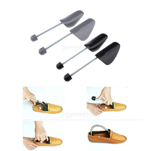 Plastic Adjustable Mens Shoe Tree Stretcher Boot Holder with Tension Spring Coil 30*8cm