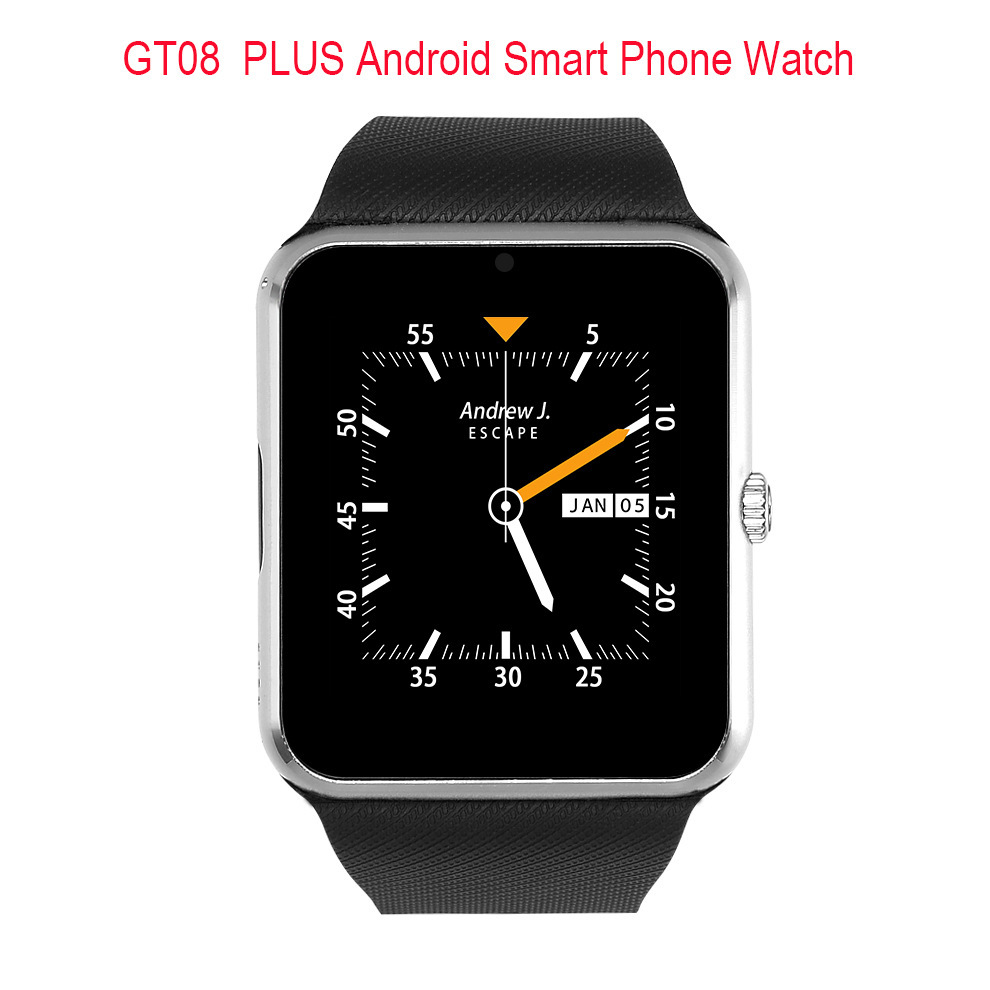 696 Bluetooth Android Smart Watch GT08 Plus Support Camera Nano 3G SIM card WIFI GPS Google Map Google Play Store Wristwatch