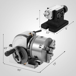 BS-0 Precision Dividing Head With 5 3-jaw Chuck & Tailstock