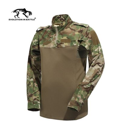 2019 New Multicam Combat Shirt Hunting Clothes Airsoft Tactical Emerson Army Military Wargame Multicam TShirts Teflon Waterproof