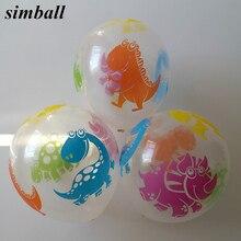New Balloon 100pcs/lot 12inch Printing Transparent Latex Balloons Dinosaur Balloon Birthday Party Supplies Interesting Kids Toys