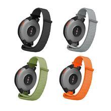 Strapsmart watch amazfit verge 스트랩 루프 캔버스 교체 손목 스트랩 huami3 용 스위치 귀 시계 스트랩으로 쉽게 조정 가능