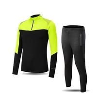 Survetement Football New Men Blank Soccer Jerseys Set Sports Tracksuit Football Kits Zipper Football Training Tracksuit