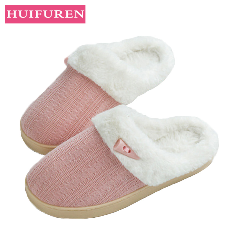 Women Winter Warm Ful Slippers Female Cotton Slides Lovers Home Slippers Indoor Plush Size Slip On House Shoes Woman wholesaleWomen Winter Warm Ful Slippers Female Cotton Slides Lovers Home Slippers Indoor Plush Size Slip On House Shoes Woman wholesale