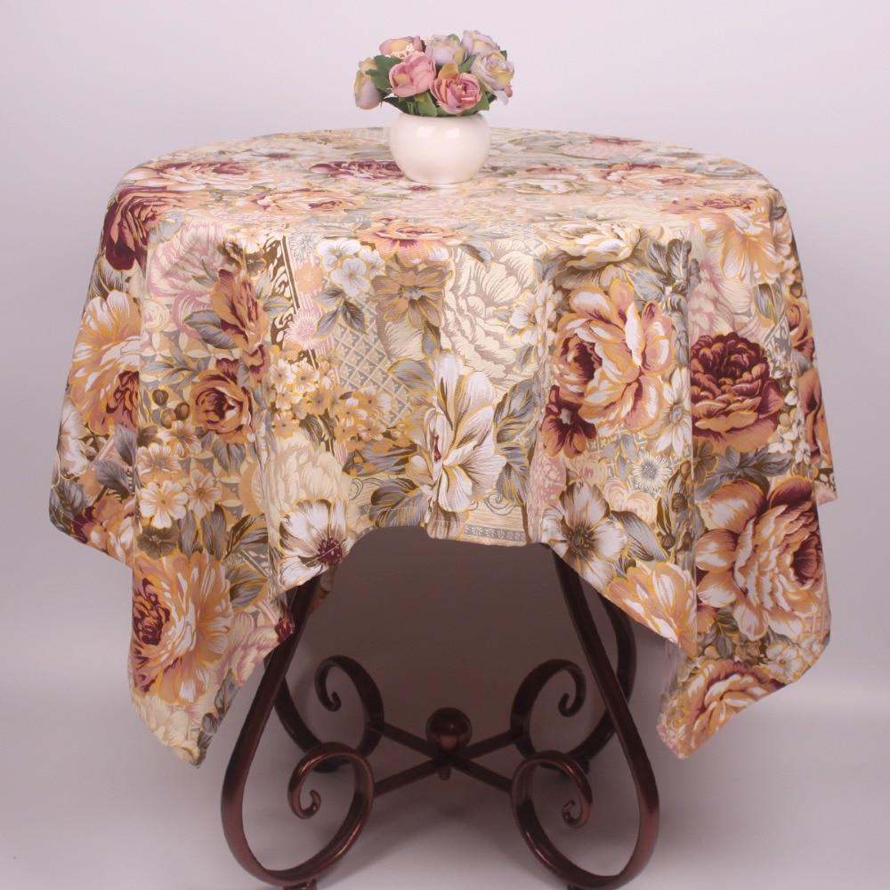 Kualitas Tinggi Vintage Countryside Floral Katun Taplak Meja Meja  # Muebles Tadel Grup