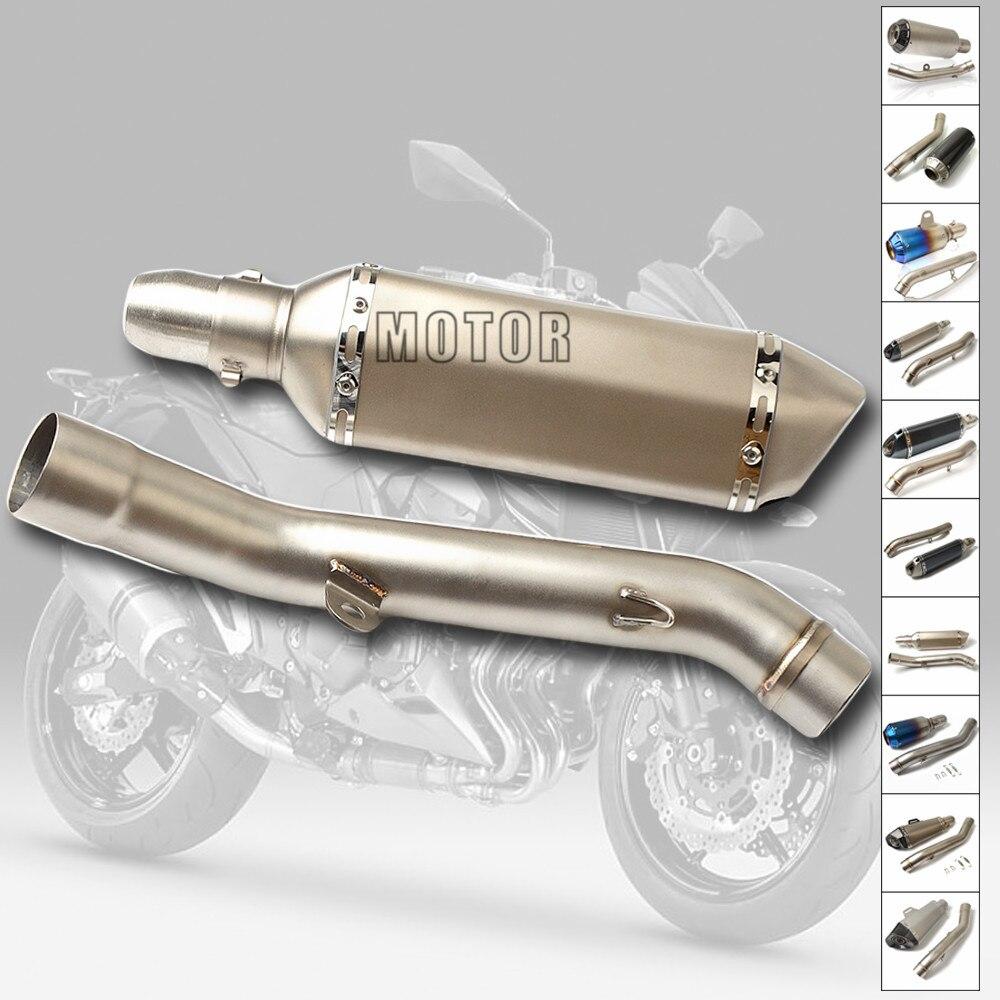 Tuyau d'échappement de silencieux de Moto système complet d'échappement de sans lacet tuyau d'acier inoxydable de Moto pour Kawasaki Z800 Z 800 2013 2014 2015 2016