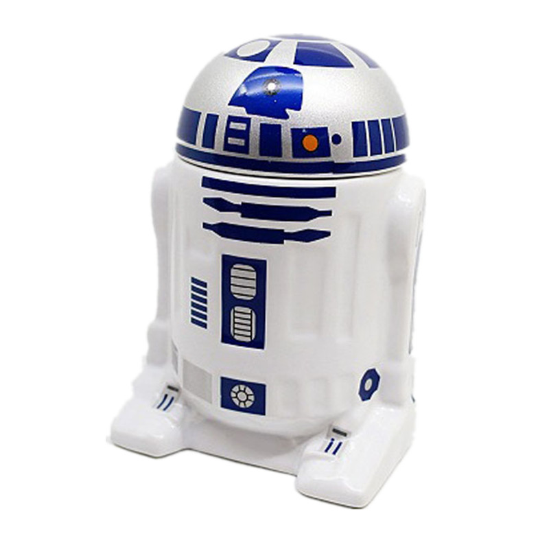 Star Wars Ceramic Mug Robot Mugs With Lid & Milk & Coffee & Tea Ceramic Cup Working Office Drinking Bottle Christmas Gifts