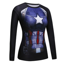 Fitness Compression Shirt Superman VS Batman 3D Printed T-shirts girls Long Sleeve Cosplay Costume Clothes lady's Tops Shirts