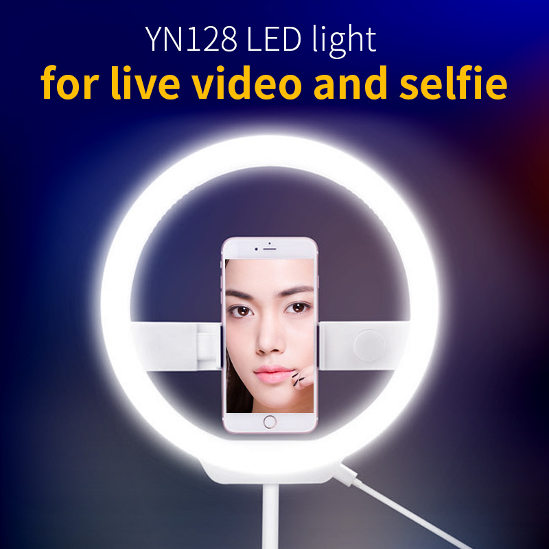 YONGNUO YN128 LED Ring Light Camera Photo/Phone/Studio/Video 3200K-5500K Photography Dimmable Ring Lamp цена и фото