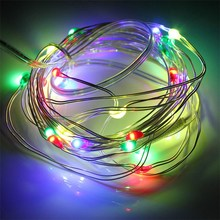 mising waterfroof 300cm 45v 30 led string light battery operated silver wire mini led fairy light christmas outdoor lighting - Battery Operated Mini Christmas Lights