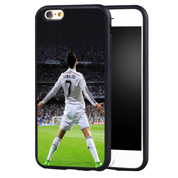 football soccer Cristiano Ronaldo CR7 original protect edge case cover For iPhone 5 5C 5S SE 6 6plus 6S 7 7Plus