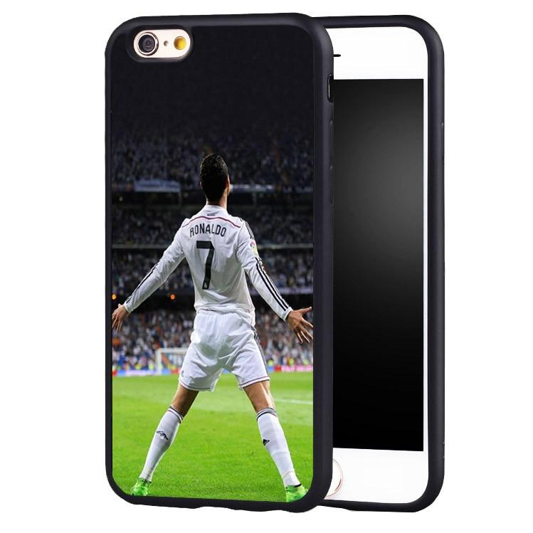 football soccer Cristiano Ronaldo CR7 original protect edge case cover For iPhone 5 5C 5S SE 6 6plus 6S 7 7Plus