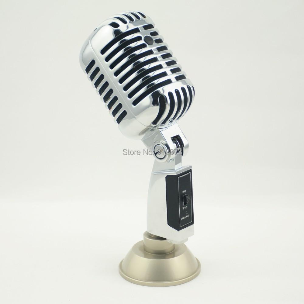 vm 10 hot sale singing microphone nostalgic style mic for ktv sing recording karaoke microphones. Black Bedroom Furniture Sets. Home Design Ideas