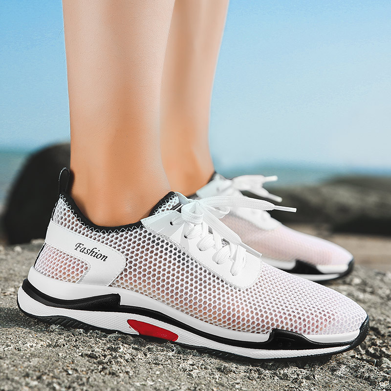 Mesh Men Running Shoes Lightweight Breathable Flats Basket Shoes Casual Sports Shoes Trainers Sneakers Men in Running Shoes from Sports Entertainment