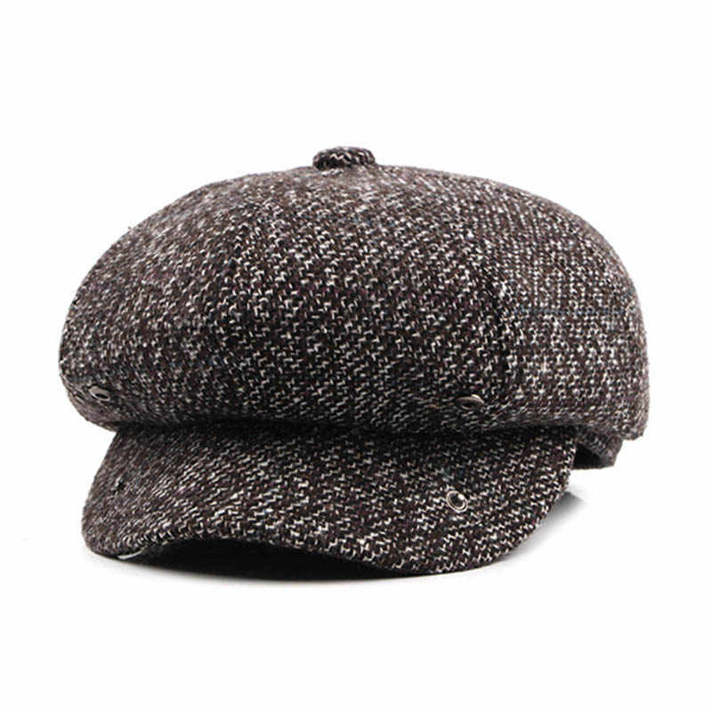 ... Fibonacci High Quality Flat Cap Wool Large Size Vintage Cabbie Hat  Gatsby Ivy Cap Irish Hunting 71aac191b6f