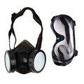 Новый Фильтр Защиты Двойной Противогаз Газохимического Anti Dust Краска Респиратор Маска с Очки Промышленной Безопасности Оптовая