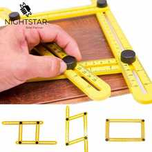 Szablon wielu linijka kątowa 4 kąt składany przyrząd pomiarowy Instrument ceglana płytka produkty z drewna narożnego składany kątomierz linijki