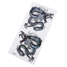 Dragon Tattoo Sticker Waterproof Perspiration Durable Mens Hot Flower Arm Party Unisex Gift
