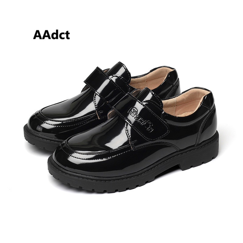 AAdct new Autumn Spring casual Patent leather boys shoes British style Children shoes High quality kids shoes for boys school