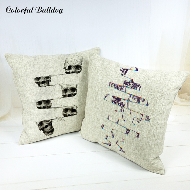 Decorative Pillows For Home Sofa Car Seat Halloween Skull Scenic Best How To Wash A Decorative Pillow