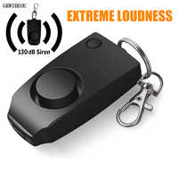 New Alarm 130dB Anti-rape Device Alarm Extreme Loud Alert Keychain Safety Personal Security Self-defense for Women Children