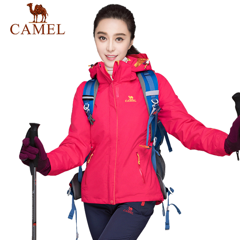 CAMEL Women's New Outdoor Jacket Waterproof Windproof Breathable Warm Brand Camping Climbing Hiking Sports Female Coat цена
